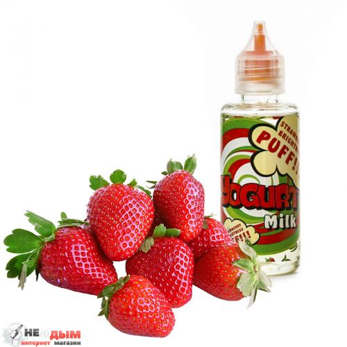 Жидкость Yogurt Milk Strawberry Brightness 50мл, 0 мг